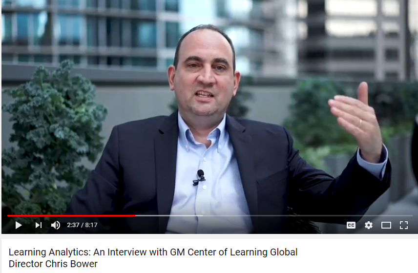 NEW: Learning Analytics: An Interview with GM Center of Learning Global Director Chris Bower