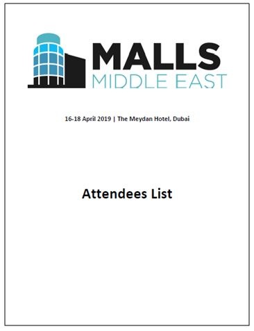 See Who Will Be Attending The 2nd Annual Malls Middle East