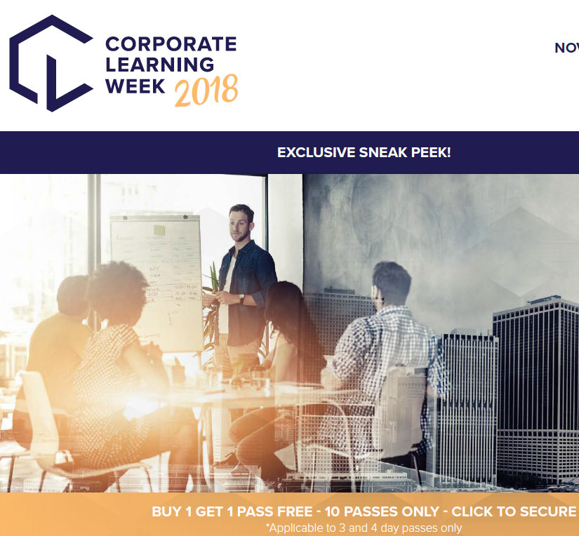 View your event guide – 2018 Corporate Learning Week