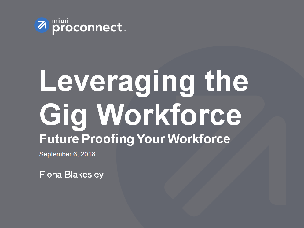 Presentation: Intuit on Leveraging the Gig Workforce