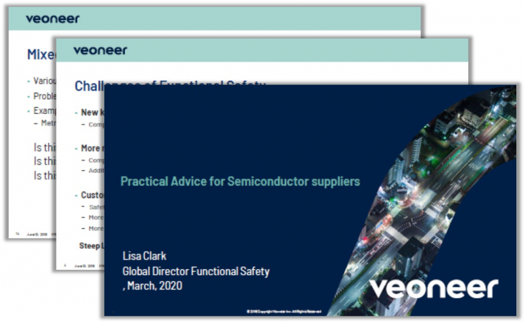 Veoneer Presentation: Practical Advice for Semiconductor Suppliers