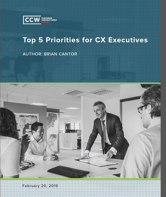 CCW Digital: Top Five Priorities for CX Executives