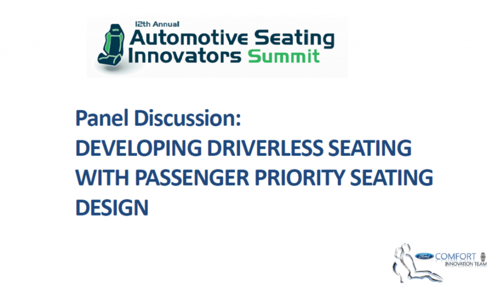 Developing Driverless Seating with Passenger Priority Seating Design