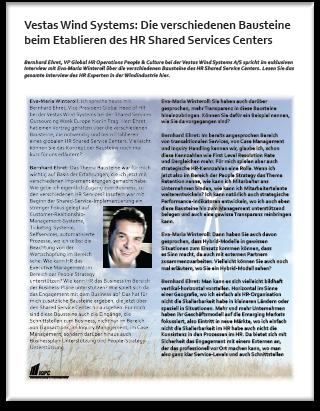 Interview Vestas Wind Systems: Die verschiedenen Bausteine beim Etablieren des HR Shared Services Centers