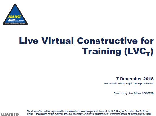 Live Virtual Constructive for Training (LVCT)