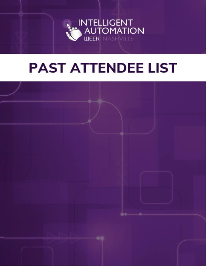 Intelligent Automation Week New Orleans 2019: Past Attendee List for Sponsorship