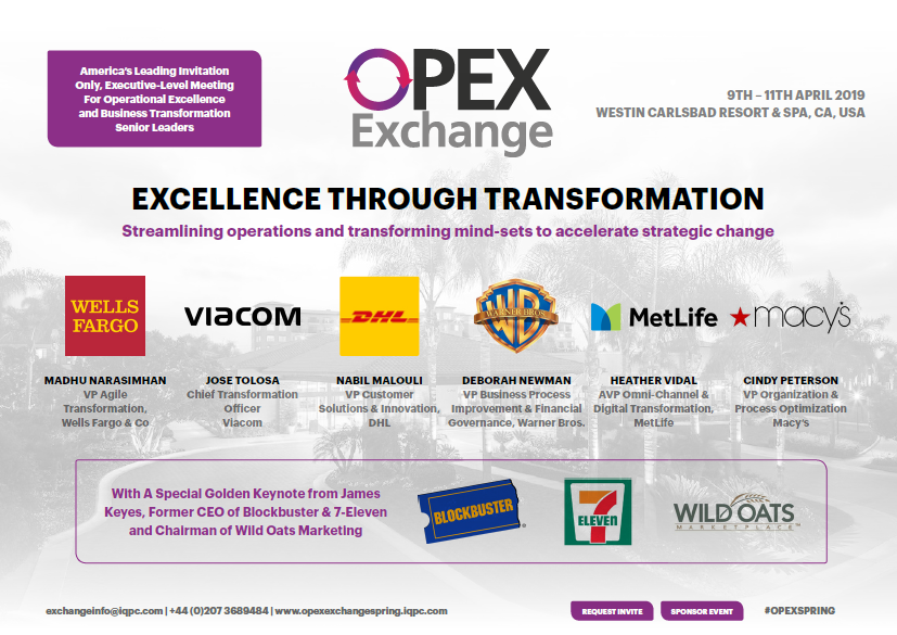 OPEX Exchange 2019 Agenda