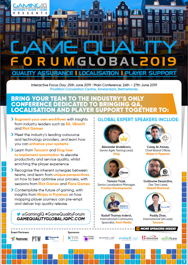 Game Quality Forum Global 2019 Event Guide