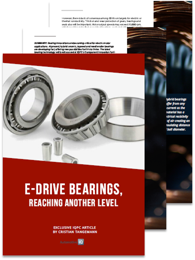 E-Drive Bearings, Reaching Another Level