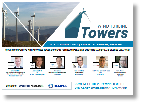 Download the latest Agenda for Wind turbine Towers!