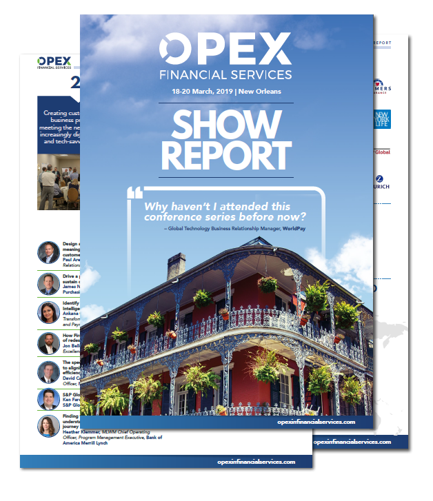 OPEX in Financial Services Show Report 2019