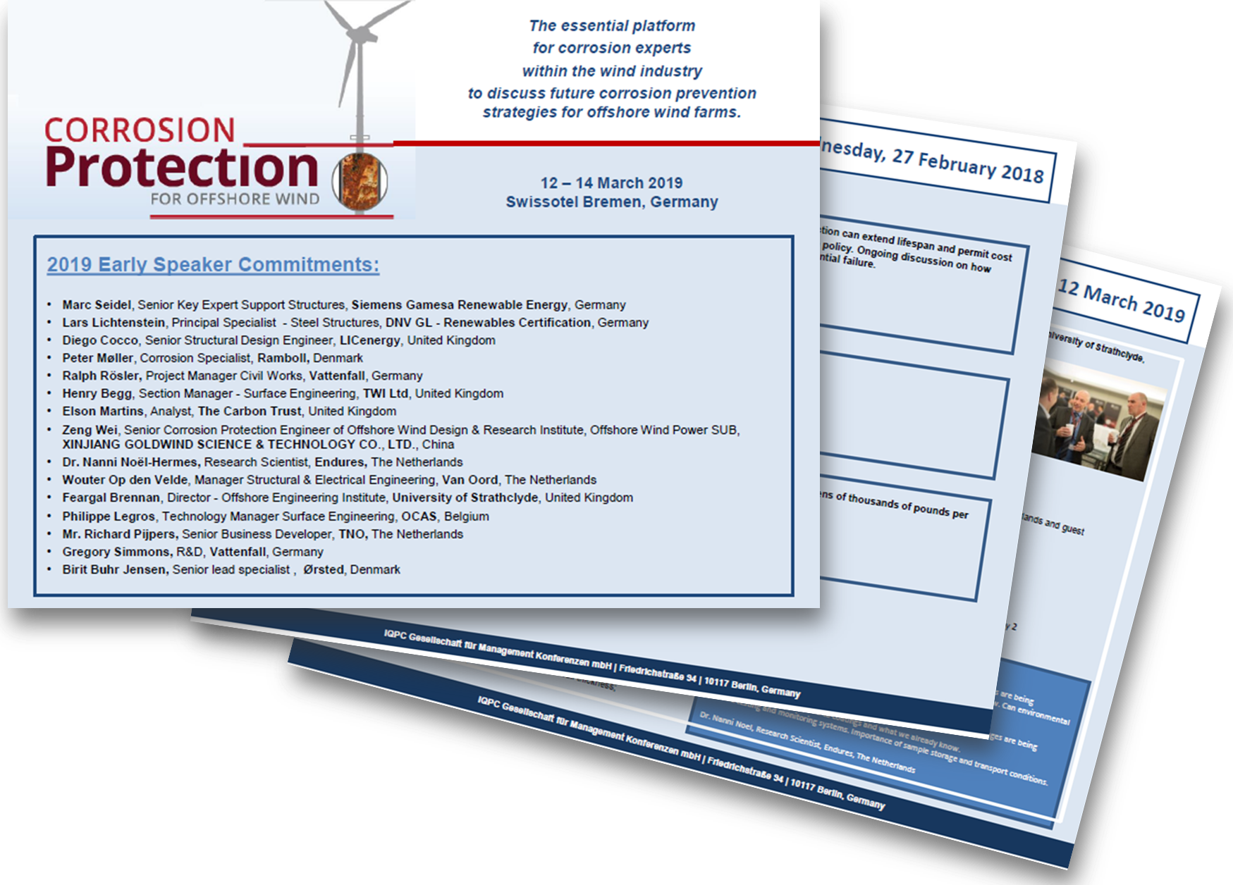 5th International Conference Corrosion Protection for Offshore Wind