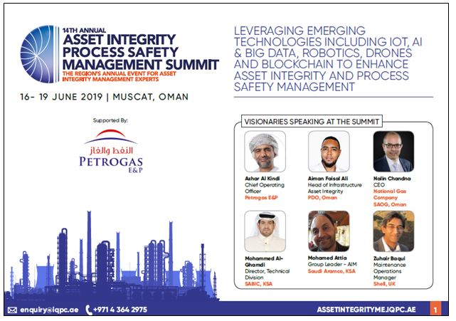 14th Annual Asset Integrity Process Safety Management Summit - Brochure
