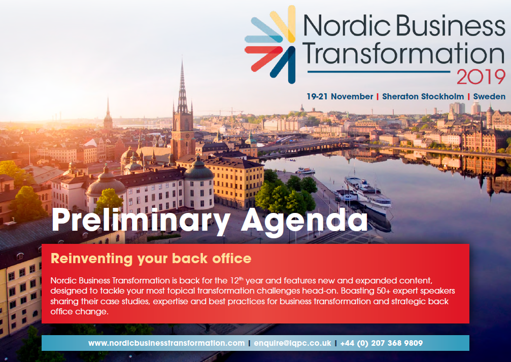 Nordic Business Transformation Preliminary Agenda
