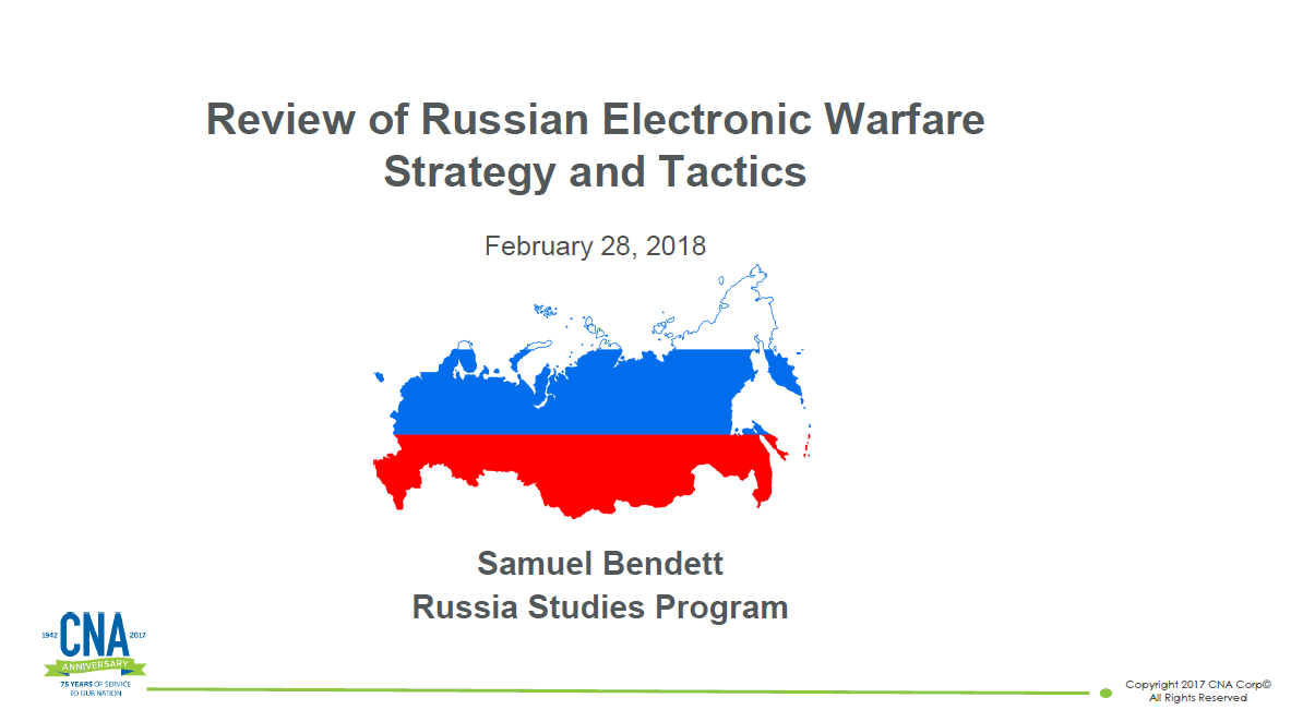 A Review of Russian Electronic Warfare Strategy and Tactics