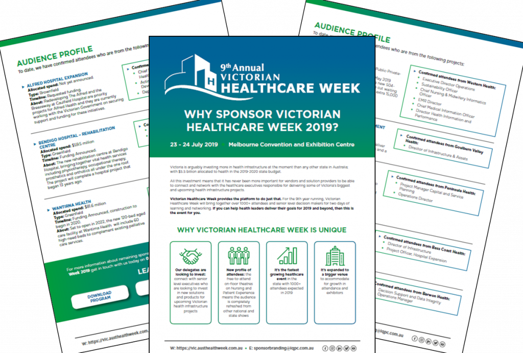 Why Sponsor Victorian Healthcare Week 2019?