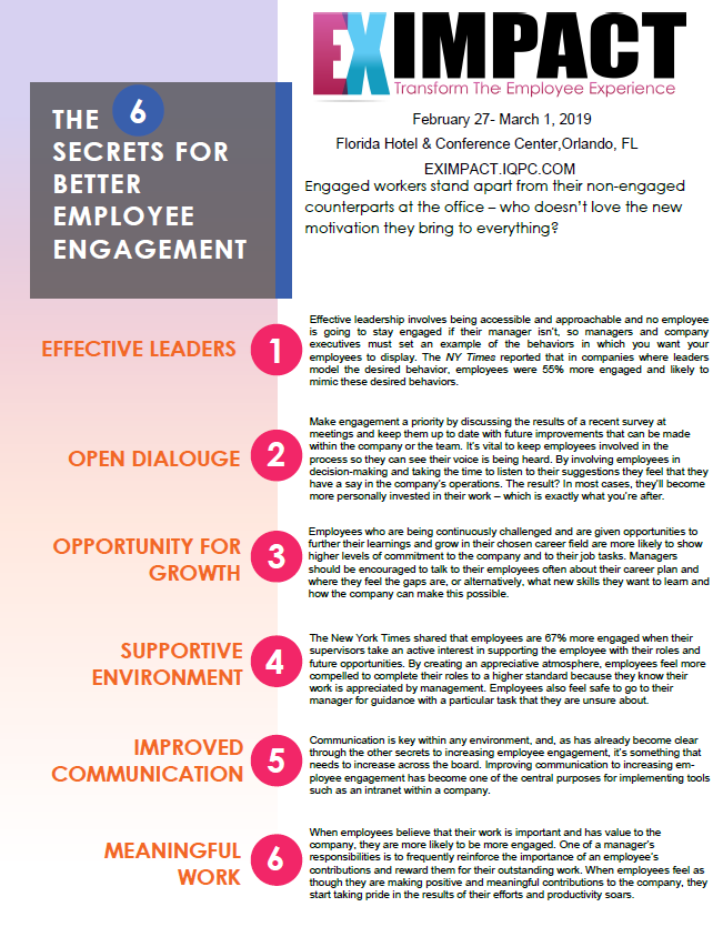 6 Secrets for Employee Engagement