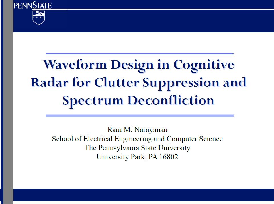 Waveform Design in Cognitive Radar for Clutter Suppression and Spectrum Deconfliction