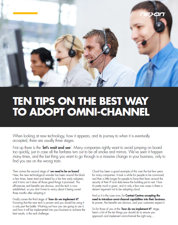 NEXON: Ten tips on the best way to adopt omni-channel