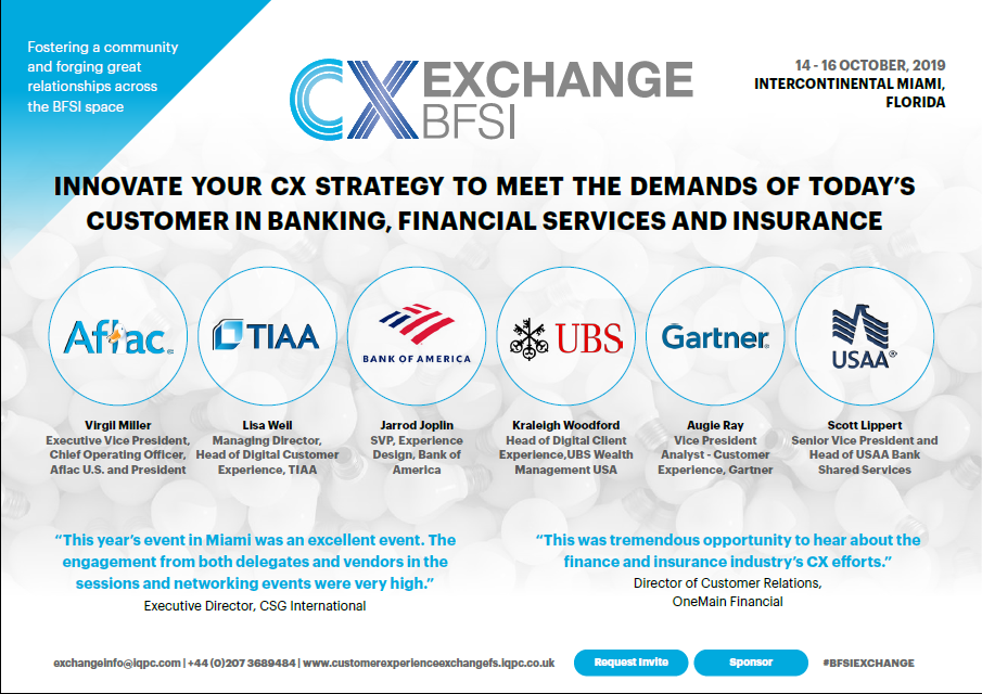 Customer Experience Exchange for Banking, Financial Services and Insurance Agenda 2019
