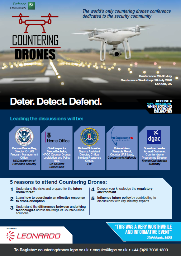 Download the Agenda l Countering Drones Conference