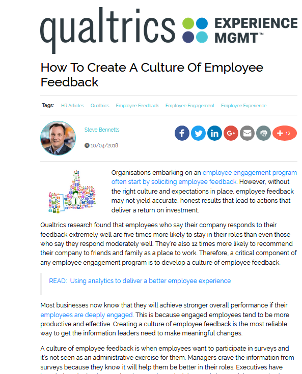 How To Create A Culture Of Employee Feedback