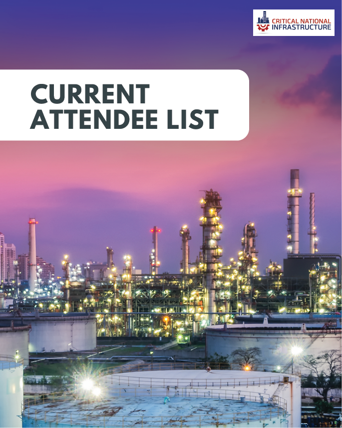 Critical National Infrastructure 2019: Current Attendee List