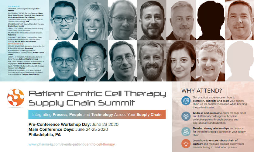 Patient Centric Cell Therapy Supply Chain Summit 2020 Agenda
