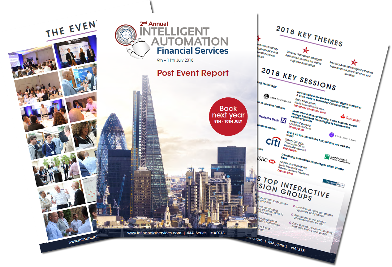 Post Event Report 2018 - Intelligent Automation: Financial Services