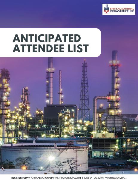 Anticipated Attendee List 2019