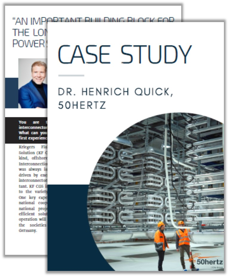 Case Study on the Long-Term Transition in the Power Systems with Dr. Henrich Quick from 50Hertz Transmission GmbH