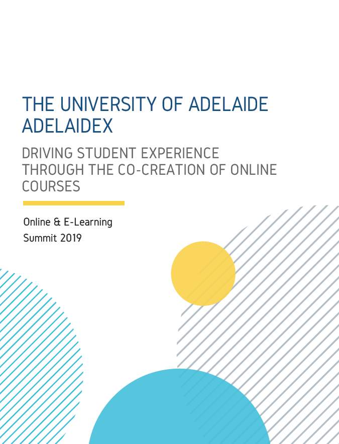 Driving Student Experience through the Co-Creation of Online Courses
