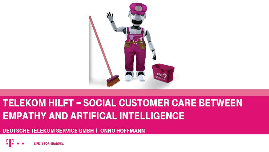 Social Custstomer Care between Empathy and artificial Intelligence.