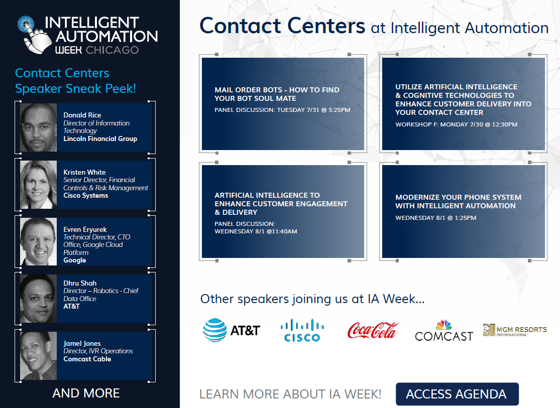 Contact Centers at Intelligent Automation Week
