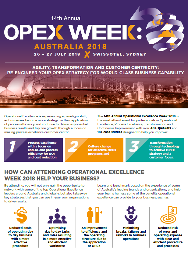 OPEX Week Australia 2018 Business Case
