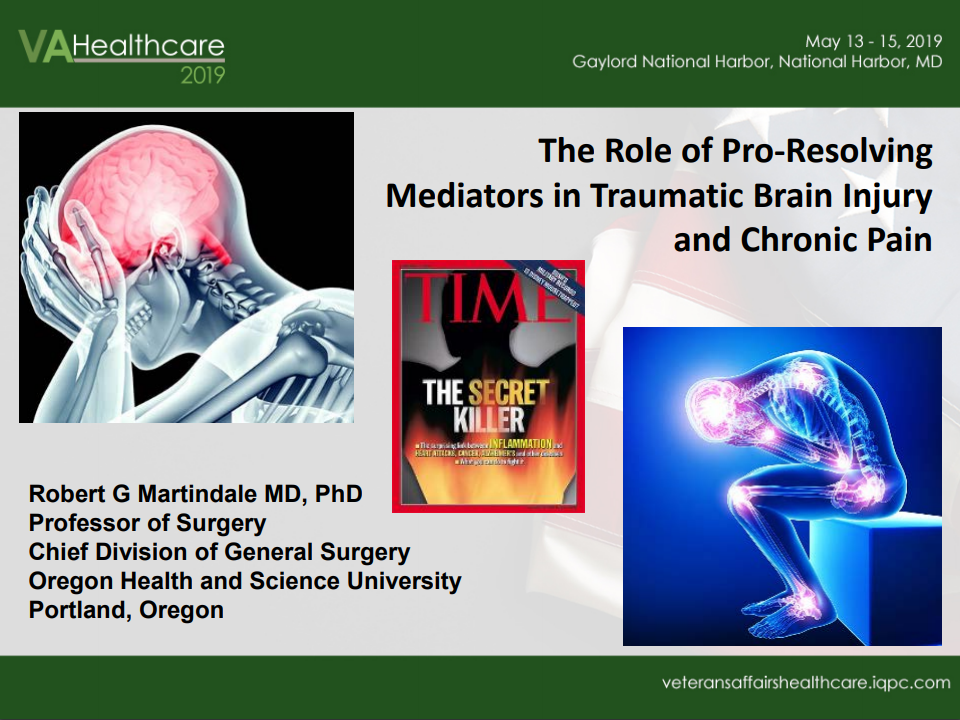 The Role of Pro Resolving Mediators for Chronic Pain and TBI in the Veteran Population