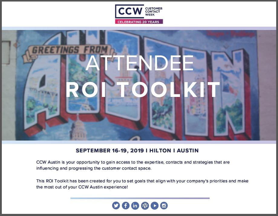 CCW Austin 2019 - Attendee ROI Toolkit