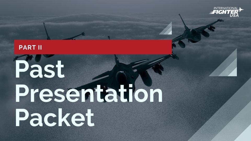 International Fighter USA Past Presentation Packet #2