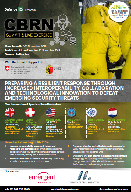 Download the Agenda l CBRN (Chemical, Biological, Radiological and Nuclear) Summit: