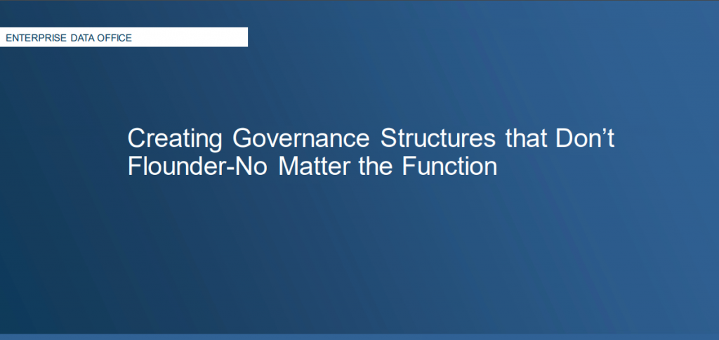Creating Governance Structures that Don't Flounder-No Matter the Function