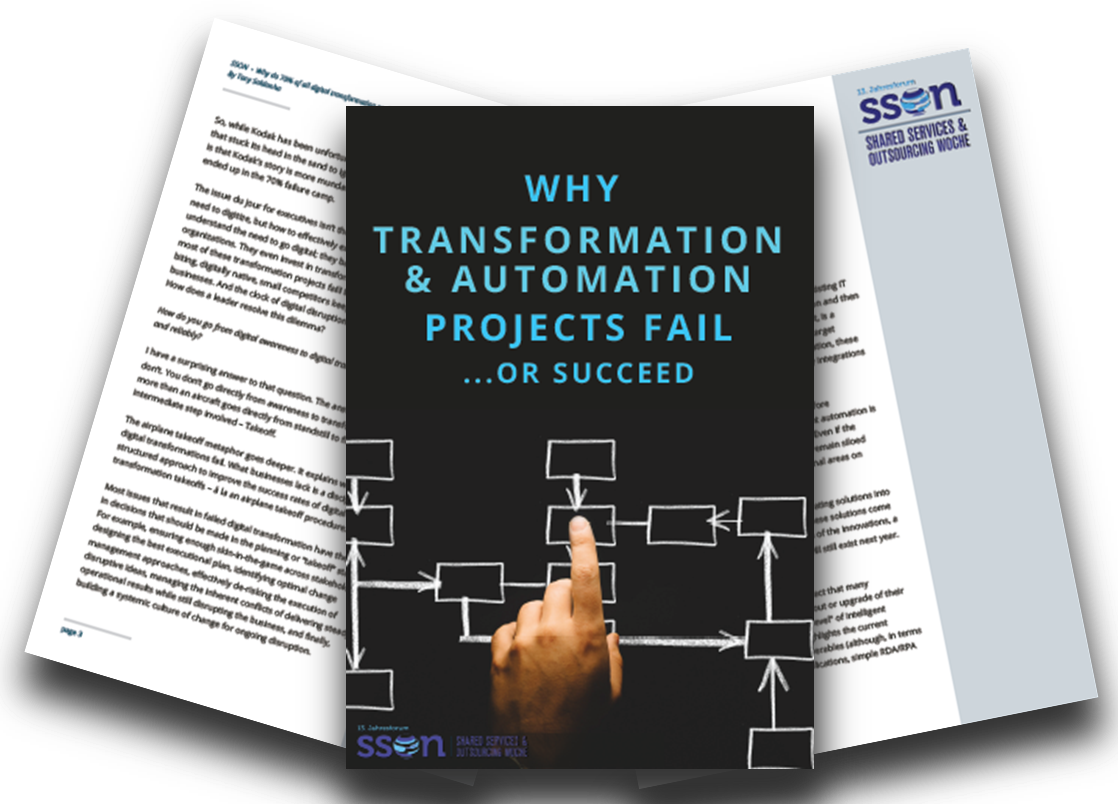 Why transformation and automation projects fail or succeed