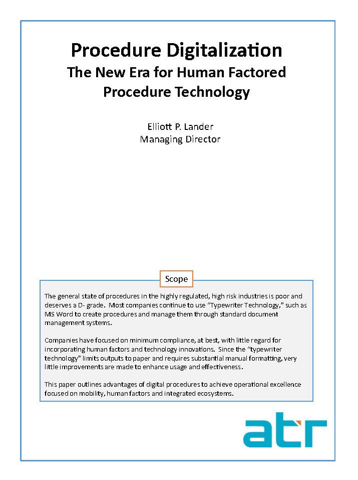 Procedure Digitalization: The New Era for Human Factored Procedure Technology