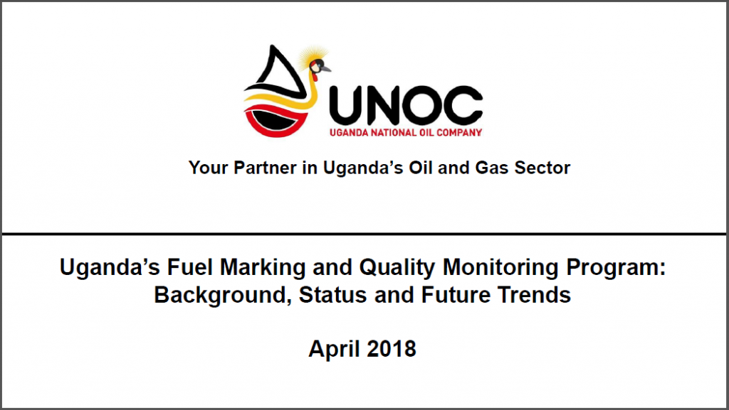 Past Presentation: Uganda's Fuel Marking and Quality Monitoring Program: Background, Status and Future Trends