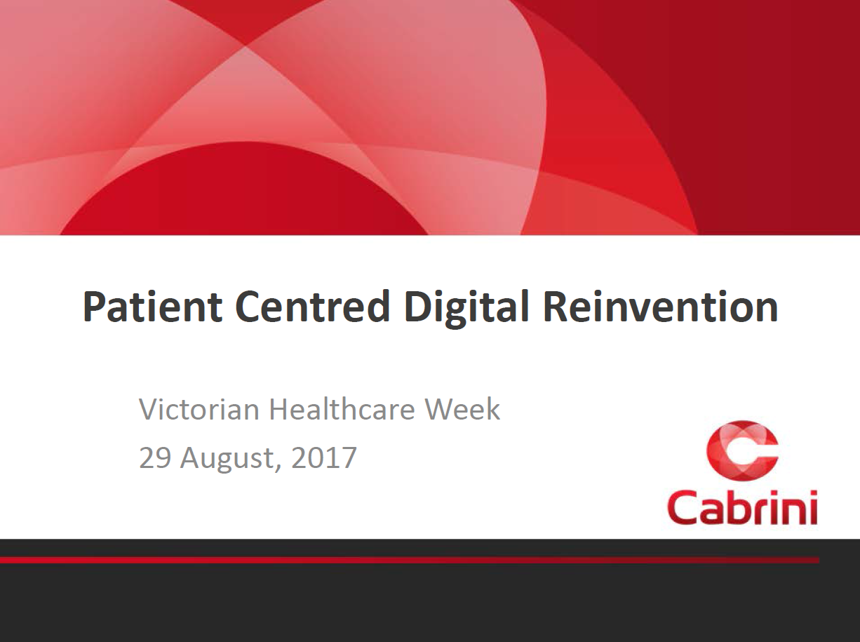 Leveraging Digital Capabilities to Transform Patient Centred Care