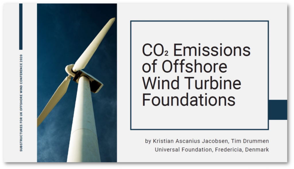 Whitepaper on CO2 Emissions of Offshore Wind Turbine Foundations