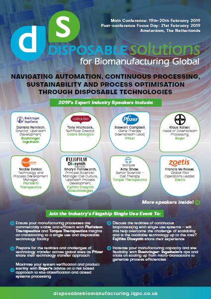 Disposable Solutions for BioManufacturing Event Guide 2019