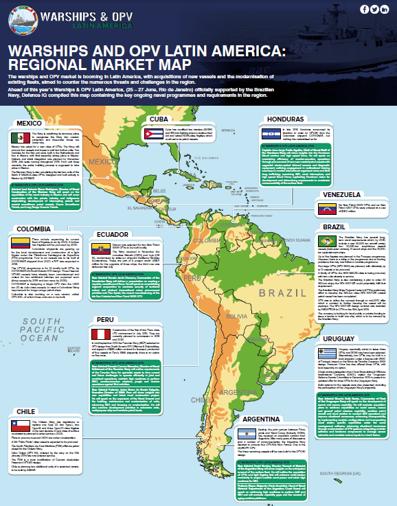 2019 Regional programmes and requirements map