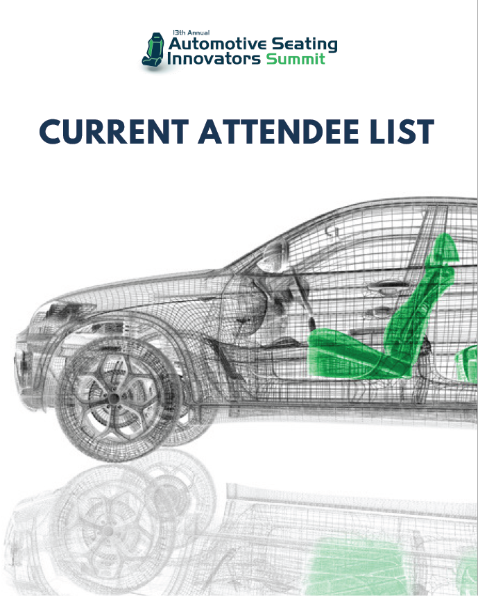 Automotive Seating Innovators 2019: Current Attendee List