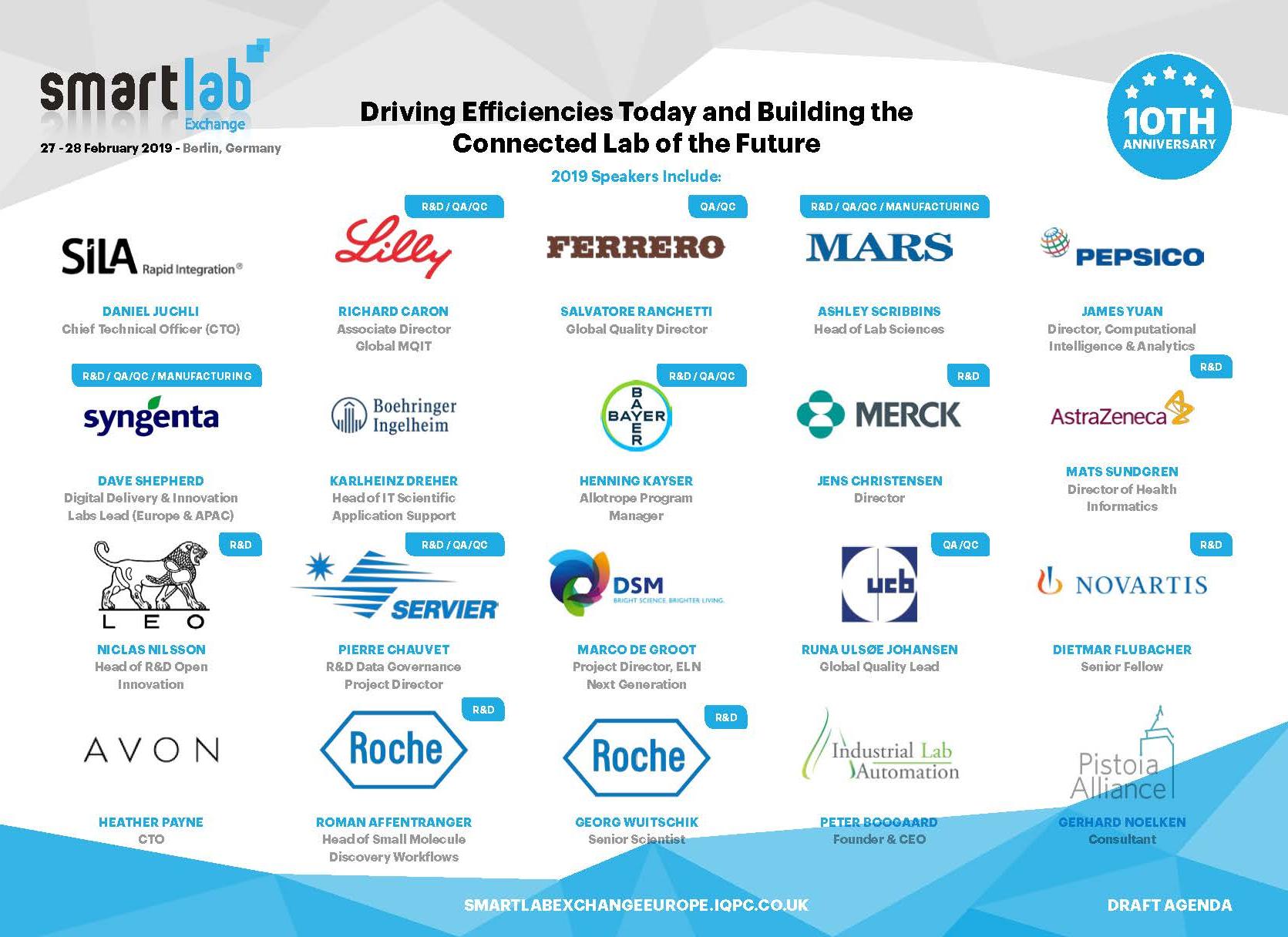 Download the Exclusive 2019 Smartlab Exchange Agenda