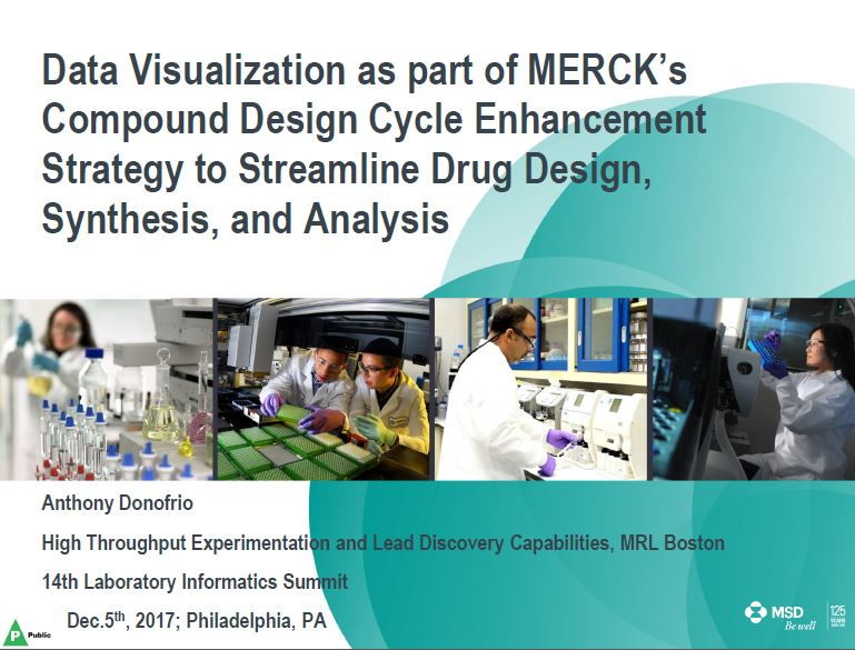 Data Visualization as part of Merck's Compound Design Cycle Enhancement Strategy to Streamline Drug Design, Synthesis, and Analysis